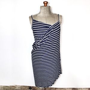🎀3/30 Dark Blue White Striped Bathing Suit Cover